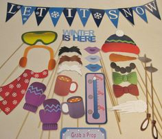 PDF WINTER Wonderland photo booth by chelawilliams on Etsy