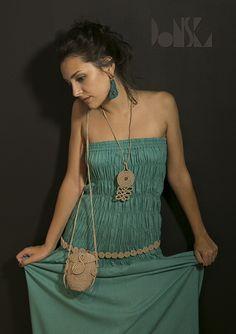Ethnic Crochet Spiral Hemp Kit – SAMODIVA /Bag, Belt and Necklace/