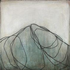 """Blue Mountain II"" ~Karine Léger #art #painting #abstract"