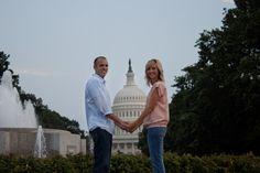 Patriotic engagement photos in Washington, D.C.