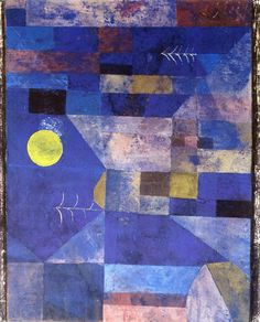 Moonlight, 1919 by Paul Klee Abstract Expressionism, Abstract Art, Abstract Paintings, Oil Paintings, Painting Art, Landscape Paintings, Paul Klee Art, Franz Kline, Illustration Art