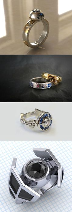 Star Wars inspired engagement rings for the ULTIMATE fan couple!