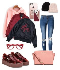 """""""Causal and good price ❤️"""" by iiisr on Polyvore featuring WithChic, Puma, Casetify, Stussy, MICHAEL Michael Kors, Free People, Ace, 2017 and winterstyle"""