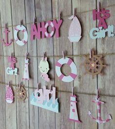 Ahoy It's A Girl Garland It's A Girl Mini Banner by HappyBanners