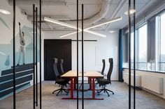 Studio Perspektiv were engaged by WebSupport to design their offices located in Bratislava, Slovakia. One of the biggest players in the Slovakian IT Open Ceiling, Infinity Mirror, Wood Cladding, Glass Partition, Rectangle Table, Bespoke Furniture, Bratislava, Office Interiors, Home And Family