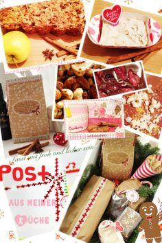 weihnachtliches Gewürzapfelbrot mit Zimtbutter, selbstgemachte Glühweinschokolade, Gewürzschoki mit weißen Schokospänen, eine Backmischung f...