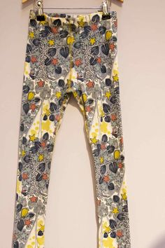 Nightime stars and trees on leggings by Modeerska Huset at CPH KIds fair for summer 2013