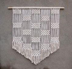 Home : Large wall hanging Xl macrame wall hanging Large tapestry Bohemian wall decor Handwoven modern macrame decor Geometric fiber art Rope decor Macrame Design, Macrame Art, Macrame Projects, Rope Decor, Bohemian Wall Decor, Macrame Wall Hanging Patterns, Macrame Patterns, Art Corde, Art Macramé
