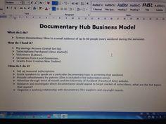 Documentary Hub Business Model