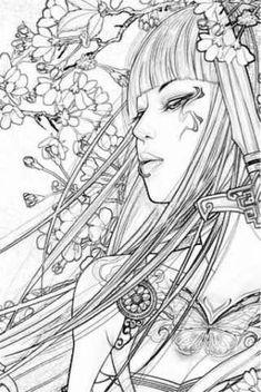 tattoos in japanese prints - Modern Japanese Drawings, Japanese Tattoo Designs, Japanese Prints, Japanese Art, Japanese Tattoos, Samurai Tattoo, Samurai Art, Geisha Tattoo Design, Bonsai Tree Tattoos