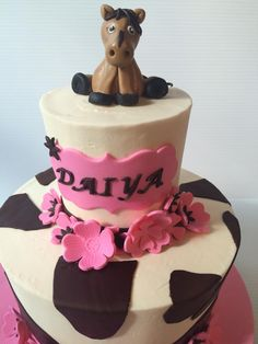Sweet Birthday for a horse loving little lady #treebranchcakery