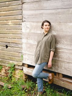 Sustainable and ethically made buttondown from Lady Farmer & Line + Tow. Made of 100% recycled cotton and ethically produced Guatemala. We love it buttoned and belted with leggings, or just thrown over any outfit for an extra layer of warmth in the colder months or sun protection in summer. It's extra soft once it's been washed! Farmer Outfit, Pop Up Market, Throw Over, Slow Fashion, Clothing Items, Lady, Outfits, Sun Protection, Leggings