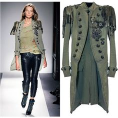 Balmain military long coat - not very practical for an everyday look - but it is impressive