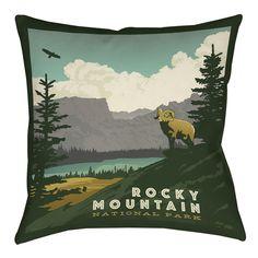 Rocky Mountain National Park Indoor/Outdoor Throw Pillow