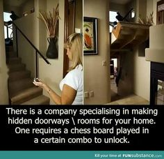 Shut up and take my money! I dont have the money Hidden Rooms, Secret Rooms, Take My Money, Cool Inventions, Dream Rooms, Cool Rooms, New Room, House Rooms, Decoration