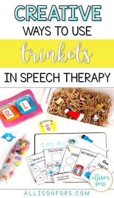 Trinkets are an engaging manipulative to use in speech therapy. They are versatile for many articulation and language targets! #speechtherapy #slpeeps