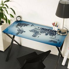 Lumisource world map office desk office desks desks and bedrooms map desk in home and garden furniture gumiabroncs Choice Image