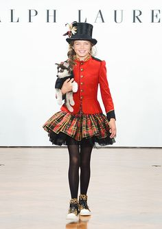 Ralph Lauren Children's fall/winter 2012-2013. This was at one of his children fashion show. This is a very tailored British mix with American horse back riding type style.