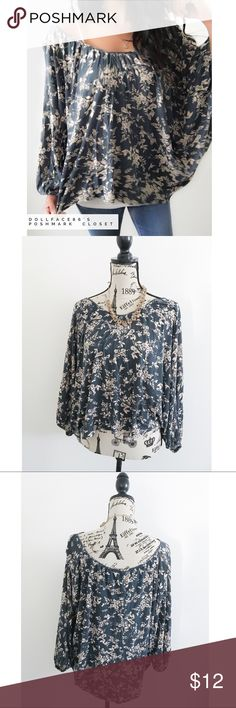 """LC Floral Dolman Top ✦ BUNDLE THIS ITEM FOR DISCOUNT-NO OFFERS ACCEPTED  ✦{I am not a professional photographer, actual color of item may vary ➾slightly from pics}  ❥chest:38"""" ❥waist:27.5"""" ❥length:23"""" ❥sleeves:22.5"""" ➳material/care:rayon/hand wash  ➳fit:true w/batwing/dolman sleeves & wide neck  ➳condition:small hole & light mark each on opposite sides of top near corners not very noticeable   ✦20% off bundles of 3/more items ✦No Trades  ✦NO HOLDS ✦No transactions outside Poshmark  ✦No…"""