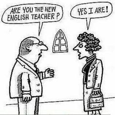 I don't want this kind of english teacher!
