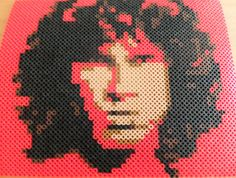 Perler Bead Portrait  JIM MORRISON by MostFavoriteAunt on Etsy, $30.00