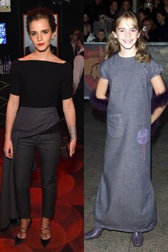 Now: At the Time 100 Gala Then: At the Harry Potter and the Philosopher's Stone premiere in 2001   - ELLE.com