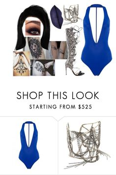 """Untitled #3648"" by nicole-briffa ❤ liked on Polyvore featuring Alexandre Birman and Melissa Joy Manning"