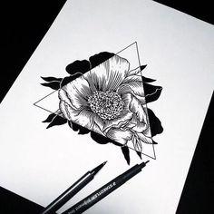 Imagem de drawing, flowers, and art