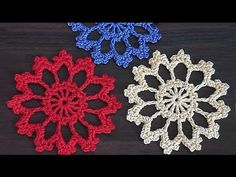 Crochet motif. Tutorial. Small necklace motif. Part 2. #crochet NotikaLand.com