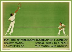 Art Print Wimbledon Tennis 1923 London Underground by BloominLuvly