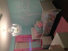 Chandeliers are a fun idea for a little girl's room. http://www.myknobs.com/canich171b05wh.html