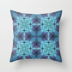 Soothing Blues Throw Pillow by Lyle Hatch - $20.00