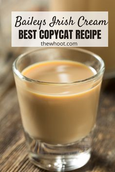 How To Make Best Copycat Baileys Irish Cream Recipe   The WHOot Baileys Drinks, Baileys Recipes, Irish Recipes, Homemade Baileys, Homemade Irish Cream, Homemade Liquor, Homemade Alcohol, Homemade Syrup, Baileys Coffee Creamer