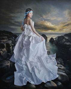 Zeng Chuanxing - White Paper Bride, wandering to Cythera: oil on linen canvas