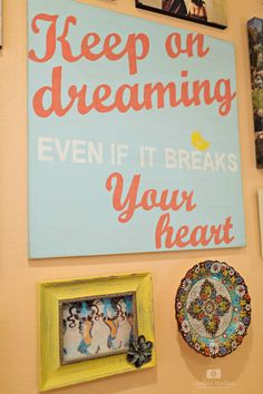 Susie Harris Hand Painted sign, custom hand painted signs, teen girl room makeover, bedroom, wall art