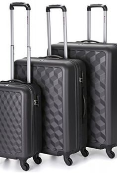 876a084292c 5-Cities-Lightweight-Hard-shell-Travel-Luggage-Suitcase -4-Wheel-Spinner-Trolley-Bag-21-Fits-55x40x20cm-26-63x48x28cm-29-73x56x32cm-5-Years-Guarantee-3-PCS-  ...