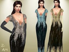 The Sims Resource: Preciousness dress by Zuckerschnute20 • Sims 4 Downloads