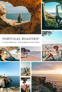 14 days Portugal road trip - from north to south. Porto, Lisbon, beautiful beaches and lots of nature. A round trip through Portugal is wonderful! Don't miss Aljezur, the Algarve and the many beau Best Beaches In Portugal, Visit Portugal, Portugal Travel, Road Trip Van, Holland Strand, Travel Around The World, Around The Worlds, Day Trips From Lisbon, Douro