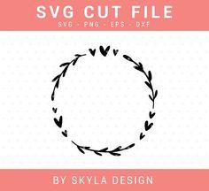 Heart wreath Svg, Flourish Svg cut file by Skyla Design for Silhouette & Cricut cutting machines