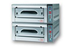 2/FP4E Forno pizza elettrico con scheda elettronica con refrattario in pietra lavica. www.cb-italy.com