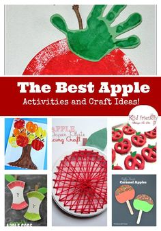 The best apple crafts and activities for apple picking season in fall and back to school - http://www.kidfriendlythingstodo.com