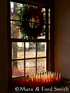 Christmas decor in Old Salem from livesimplywithstyle.com