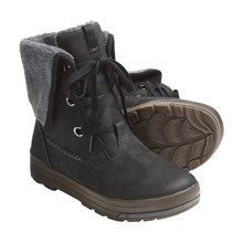 Keen Snowmass Low Boots - Waterproof, Leather (For Women) in Slate Black/English Ivy - Closeouts