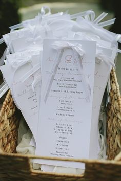 DIY Wedding Programs | Brooke Courtney | TheKnot.com