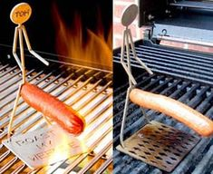 18$It's time for us to stop refraining from making weiner, hot dog, foot long, and sausage jokes and get back to grilling out while we make awkward jokes. This human hot dog griller is great for cracking up and cooking up your favorite linked meats. Shaped like a stick figure human with anatomically-conscious placed cooking…