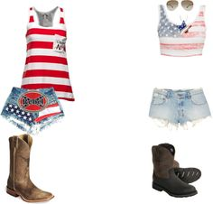 """Outfits for the Luke Bryan Concert 2012"" by countrykitten15 ❤ liked on Polyvore"