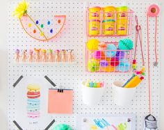 Love this! Creative Craft Storage Ideas for Small Spaces http://petitandsmall.com/creative-kids-craft-storage-ideas-small-spaces/