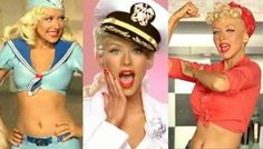 Christina Aguilera in Candyman- many costumes and looks for the Music video