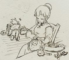 Chichi, Goku and Gohan♡^^ aww daddy Goku's playing with his baby boy #mommy chichi  (@WrjKYUBrK90ysgd)