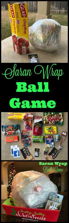 "The Saran Wrap Ball Game Rules and Ideas - ""Everything Christmas"" - Game's Xmas Games, Holiday Games, Holiday Parties, Holiday Fun, Holiday Movies, Holiday Foods, Christmas Activities, Christmas Traditions, Ideas Party"